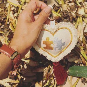 泰國客製刺繡心形帆布鑰匙圈