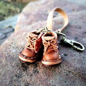 泰國客製手工皮革迷你靴鑰匙圈(細版錶帶)