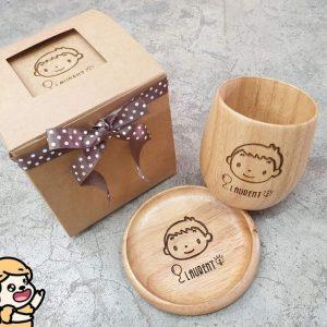 客製化木質杯子禮盒組