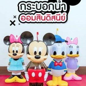 泰國711限定迪士尼水壺/存錢筒兩用公仔